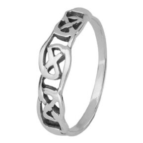Celtic Knotwork Silver Ring 0341